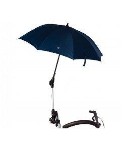 Aurinko- ja sateenvarjoteline varjolla