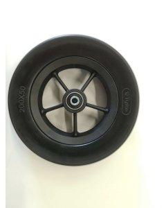 Pyörä 200x50 (8x2) musta Tyke
