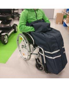 Ulkoilupussi pyörätuolinkäyttäjälle